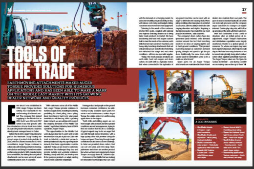 Tools of the Trade – Construction Machinery ME interview Auger Torque for Earthmoving Report 2020